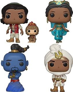 Funko Disney: POP! Aladdin Collectors Set - Aladdin w/ Abu, Prince Ali, Jasmine, Genie