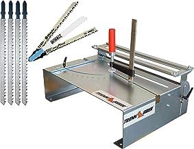 Mesa de sierra de calar 014H + 4 hojas de sierra de calar, en lugar de sierra tronzadora