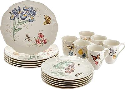Lenox 6342794 Butterfly Meadow 18-Piece Dinnerware Set