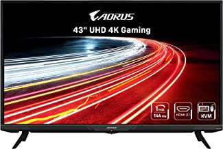 "AORUS FV43U 43 ""144Hz 2160p HBR3 ، NVIDIA G-SYNC سازگار ، داخلی داخلی منحصر به فرد ، KVM ، صفحه نمایش 3840x2160 ، زمان پاسخگویی 1 میلی ثانیه ، HDR ، 96٪ DCI-P3 ، 1x صفحه نمایش 1.4 ، 2X HDMI 2.1 ، 2X USB 3.0 ، 1x USB C"