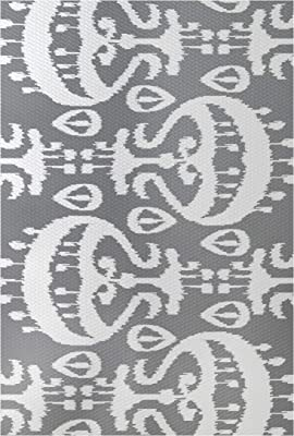 Geometric Print Indoor//Outdoor Rug 2 x 3 E by design RGN544GY2-23 Ikat Black//Gray