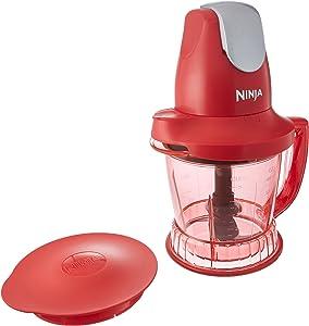 Ninja Storm Blender with 450 Watts Food & Drink Maker/Food Processor - QB751QR -(Renewed) (Red)