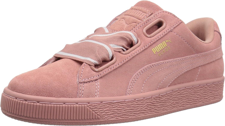 PUMA Womens Suede Heart Satin Wn Sneaker