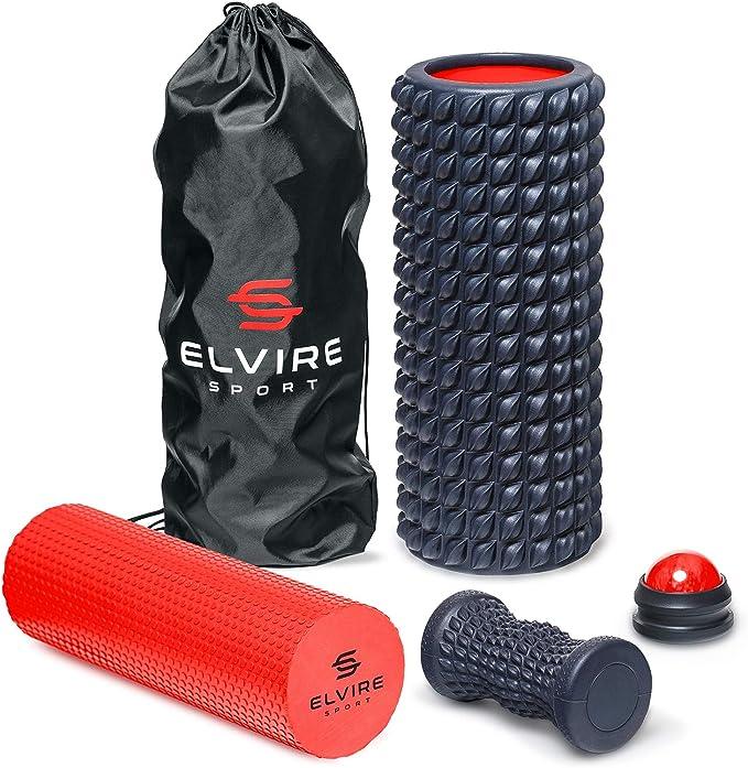 ELVIRE Foam Roller Deep Tissue Massager Set