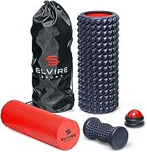 ELVIRE Foam Roller Massageset voor Diep Weefsel - Incl: Schuimrollers, Zachte en Gerichte Massageroller, Massagebal, Voetr...