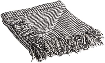 DII Rustic Farmhouse Cotton Houndstooth Blanket Throw with Fringe for Chair, Couch, Picnic, Camping, Beach, & Everyday Us...