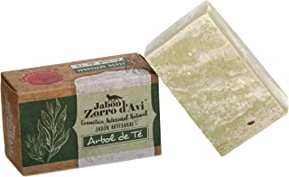 Jabón Zorro D'Avi | Jabón Natural Árbol de Té | 120 gr | Jabón Corporal para Pieles Grasas | Jabón Biodegradable Zero Wast...