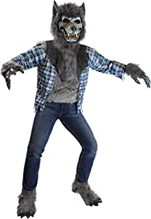 Howling Werewolf Deluxe Kids Costume Set with Mask for Halloween Dress Up Party