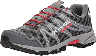 Columbia Women's Mountain Masochist IV Outdry Trail Running Shoe, Graphite, red Camellia, 9.5 B US