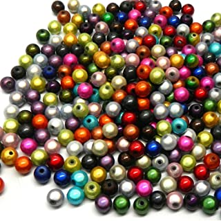Rockin Beads Brand, 300 Miracle Acrylic Spacer Beads 8mm Round (1.9mm Hole)