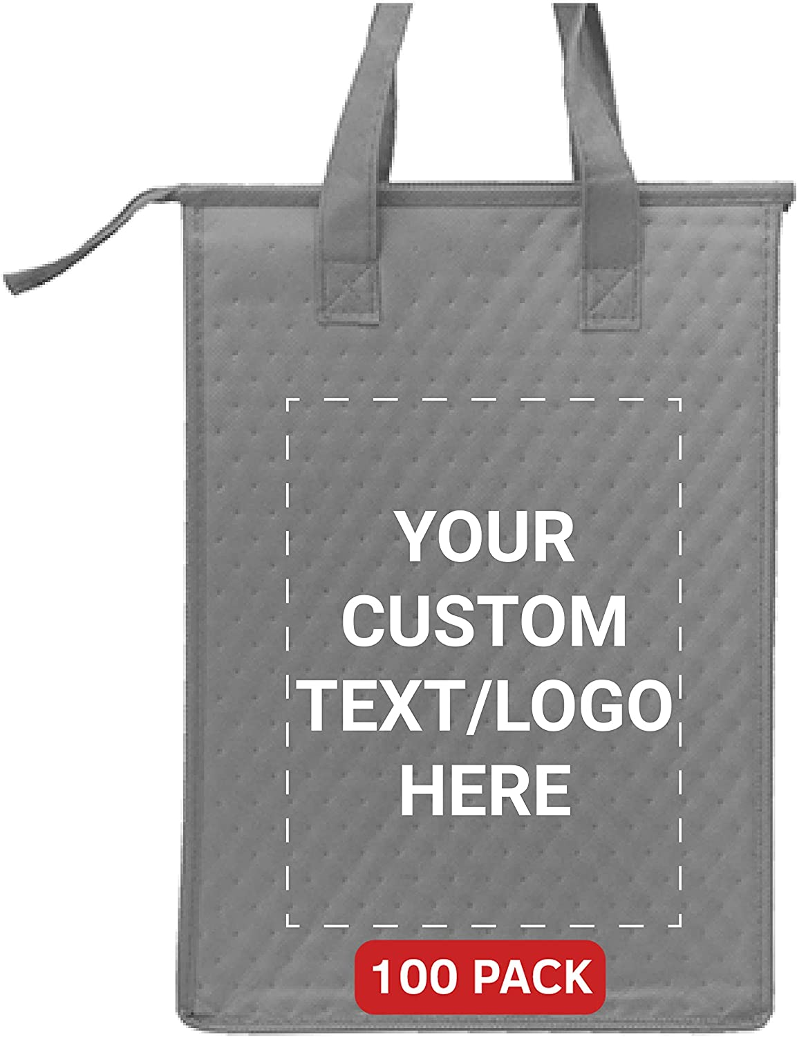 Now on sale Custom Zipper Insulated Lunch Tote Max 79% OFF Bags Personalize Pack - 100