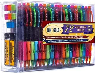 June Gold 72 Mechanical Pencils, 0.5 mm HB #2 Lead, 2 Lead Dispensers/w 220 Refills &..