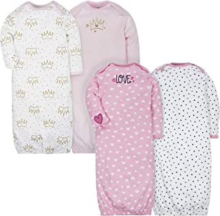 Baby Girls 4-Pack Gown, Fox/Princess, 0-6 Months