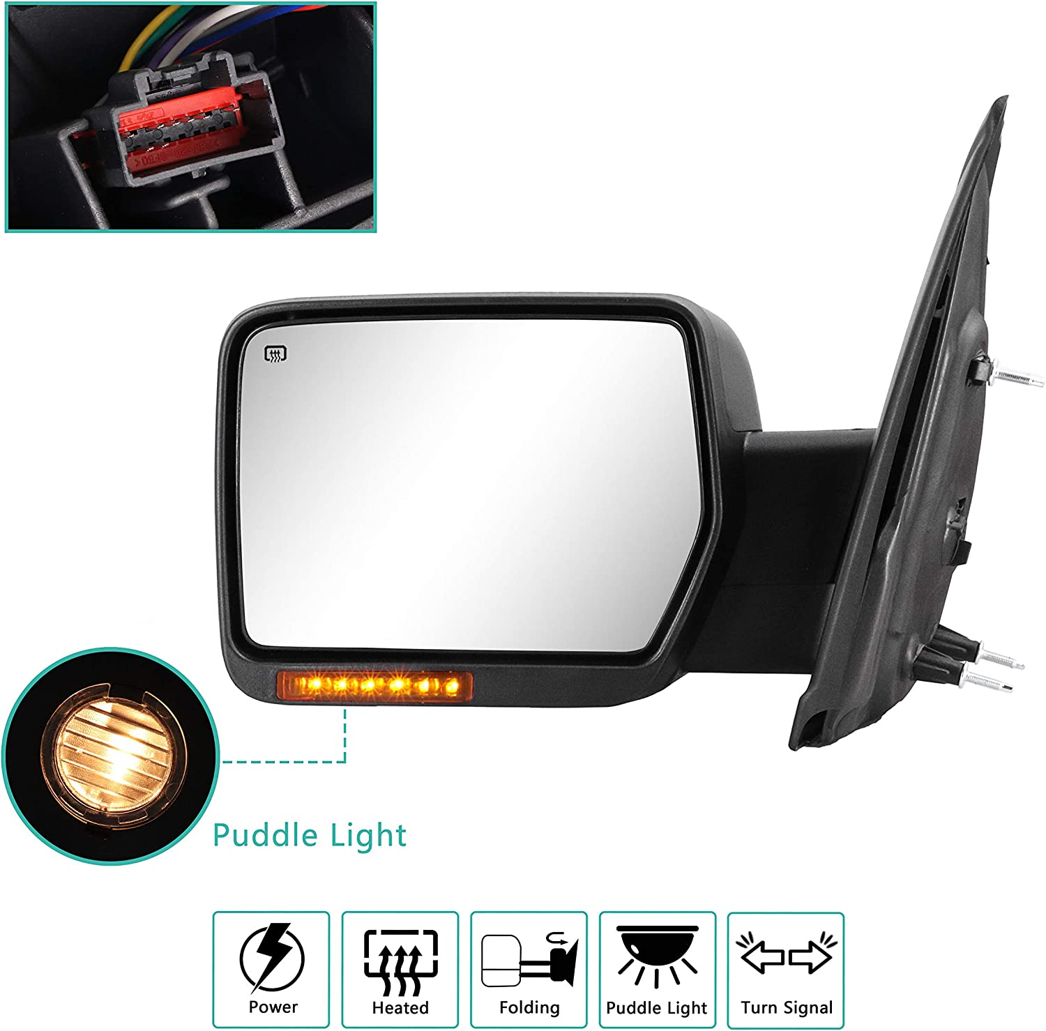 Towing Mirrors Super sale Left for 2007 wholesale 2008 2011 2012 2014 2013 2009 2010