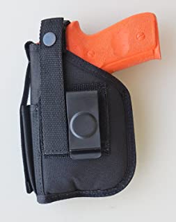 Holster with Mag Pouch for S&W SD9VE, SW9VE, SD40VE, SW40VE with Underbarrel Laser Mounted on Gun