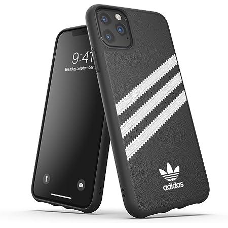 adidas Custodia Originals Compatibile con iPhone 11 Pro MAX, Cover Protettiva per Telefono in TPU con Stampa tre Strisce - Nero Bianco