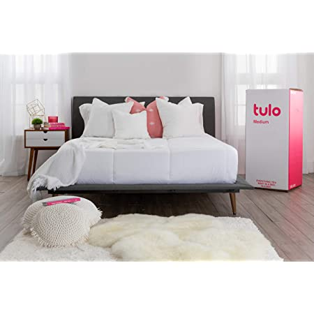 Mattress by tulo, Pick your Comfort Level, Medium Queen Size 10 Inch Bed in a Box, Great for Sleep and Balance Between Soft and Firm