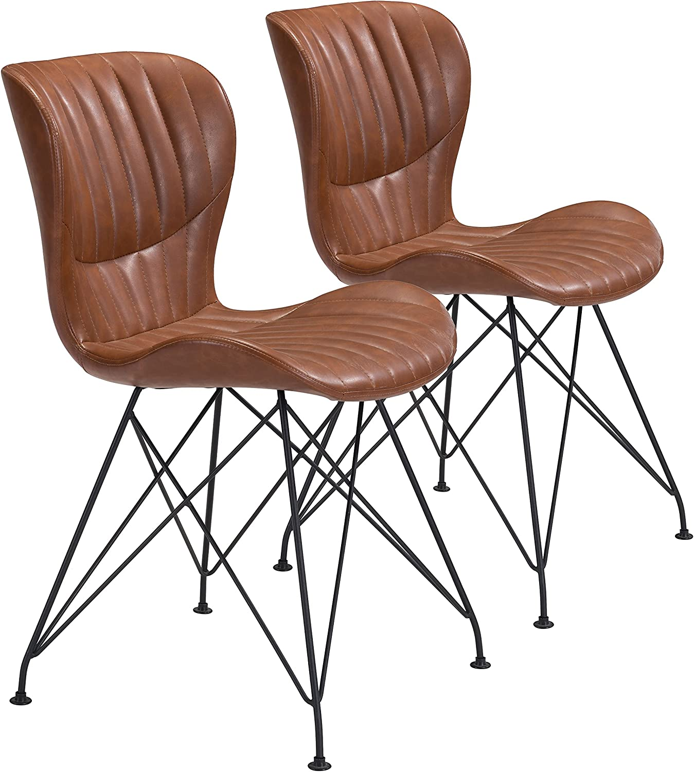 Zuo Modern Dining Chair Seattle Mall Set Columbus Mall Gabby Brown 2 of Vintage