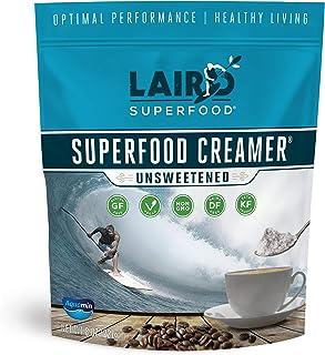 Laird Superfood Non-Dairy Coffee Creamer Unsweetened - Non-GMO Powder Coconut Creamer, MCT Oil - 8oz Bag