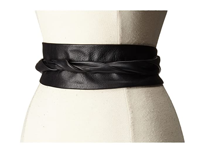 ADA Collection Obi Classic Wrap Belt (Black) Women