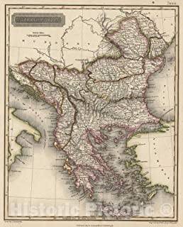 Historic Map - 1817 Turkey in Europe - Vintage Wall Art - 44in x 55in