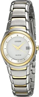 Citizen 60431 Reloj Clasico Analógico Eco-Drive para Mujer, color Plata