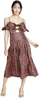 Rebecca Taylor Women's Sleeveless Leopard Bow Dress