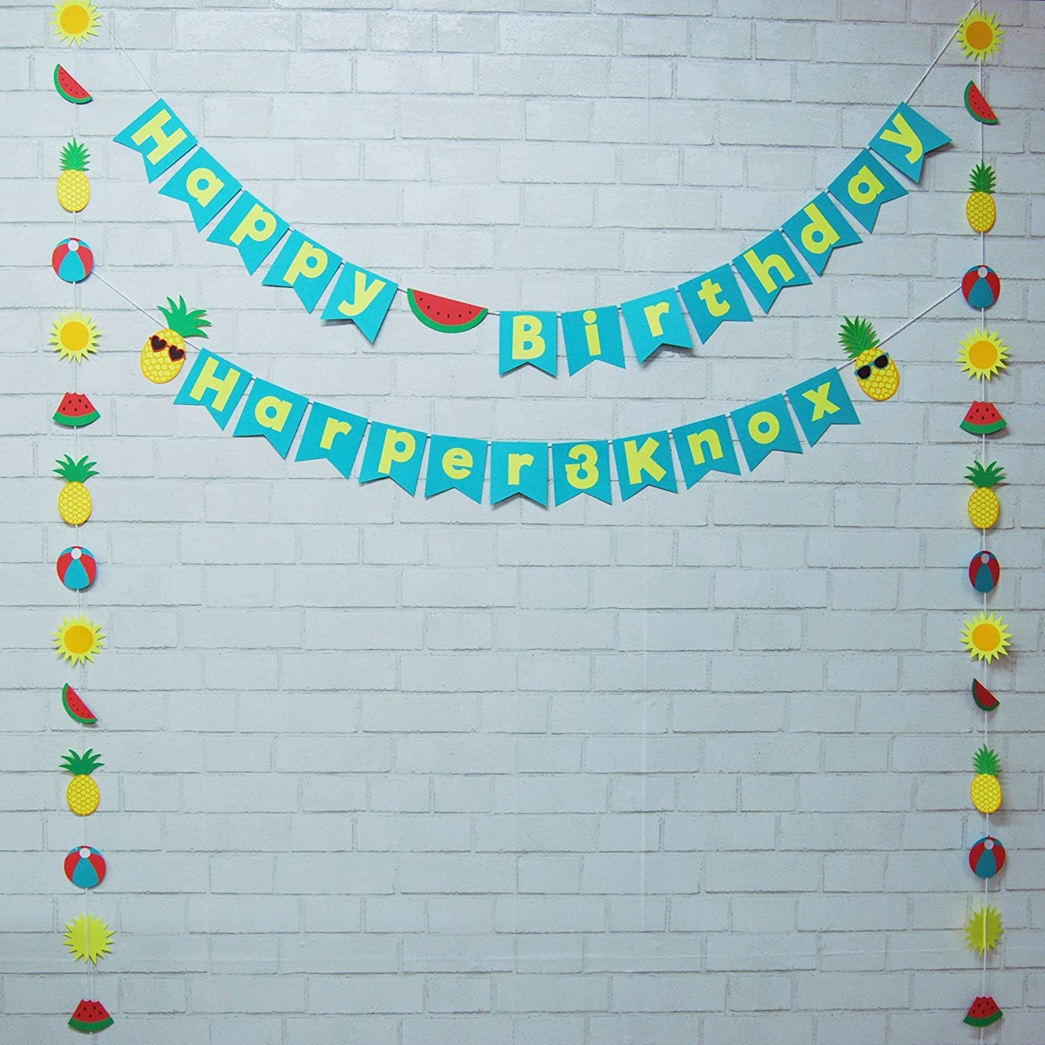 Two-tti Popularity 2021 Fruity Birthday Banner and Garland