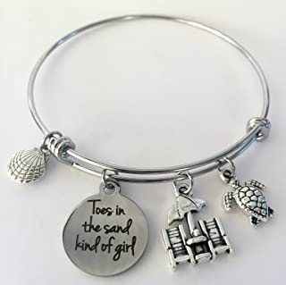 Toes in the Sand Kind of Girl Beach Bracelet for Beach Lovers - Small-Med