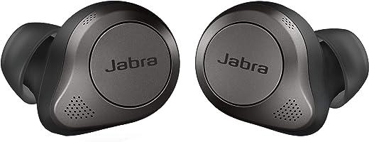 سماعات أذن جابرا ايليت 85t بتقنية البلوتوث اللاسلكية، أسود تيتانيوم – سماعات أذن متقدمة بخاصية إلغاء الضوضاء مع جراب شحن للمكالمات والموسيقى – سماعات أذن لاسلكية مع صوت فائق وراحة ممتازة