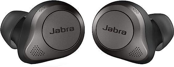 گوشواره های بی سیم بلوتوث Jabra Elite 85t True Wireless، Titanium Black - گوشواره های پیشرفته لغو کننده صدا با قاب شارژ برای تماس ها