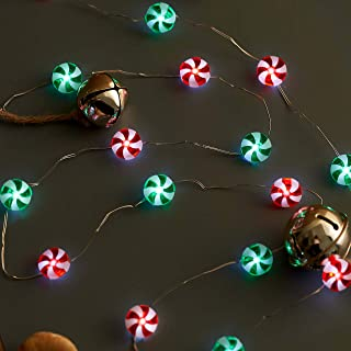 XIWU Christmas Candy String Lights 10ft 40LEDs Sweet String Lights Battery Operated with The Remote &Timer for Bedroom Indoor Outdoor Warm White Ambiance Lighting for Patio Wedding Christmas Décor