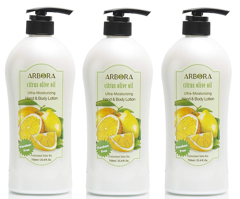 ARBORA Hand Body Lotion CITRUS Paraben 750ML Free 25.4OZ OLIVE unisex Brand new