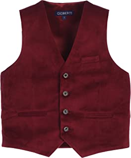 Gioberti Boy's Velvet Formal Suit Vest