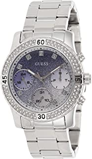 Guess Womens Quartz Wrist Watch, Analog and Stainless Steel- W0774L6