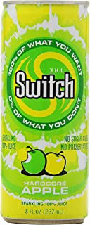 The Switch Sparkling Juice, Hardcore Apple, 8- Fl. Oz Cans (Pack of 24)