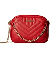 Quilted Crossbody with Chain Front Detail