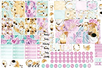 But First Coffee weekly planner sticker kit. Choose you planner style from Happy Planner Standard or Erin Condren Vertical. 5 sheets on matte sticker paper. Just peel and stick.