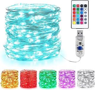 Guirlande Lumineuse Couleur, BrizLabs 10m 100 LED USB 16 Multicolore Changeantes Guirlande Lumineuse Intérieur Guirlandes ...