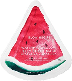 GLOW RECIPE WATERMELON GLOW JELLY SHEET MASK スイカのパック (5枚)