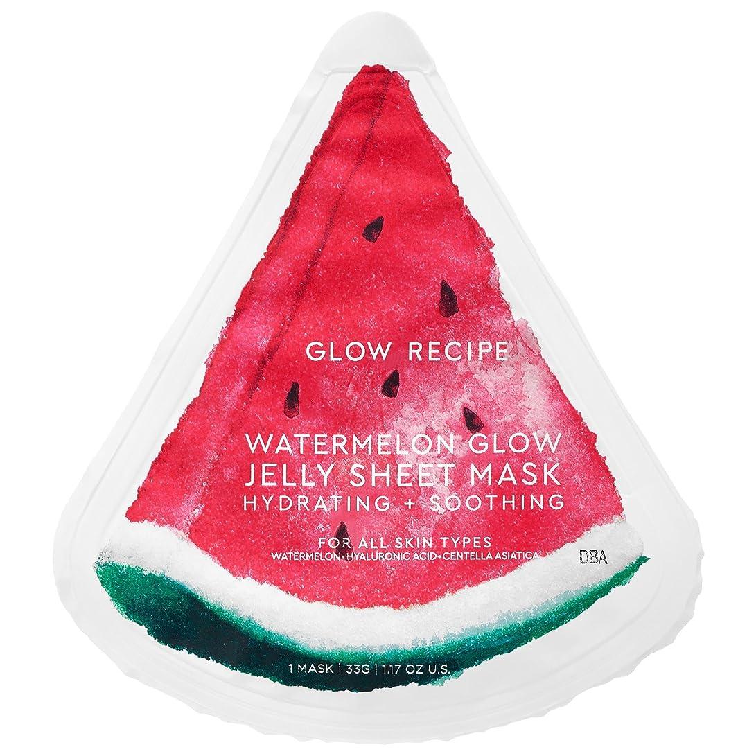 帽子熟達月曜日GLOW RECIPE WATERMELON GLOW JELLY SHEET MASK スイカのパック (5枚)