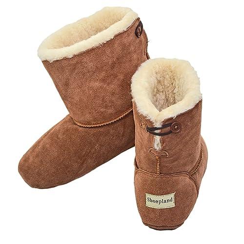 4ada91f2f9a Sheepland Luxury Sheepskin Slipper Boots - Factory Seconds TAN