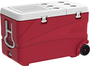 Cosmoplast Keep Cold Plastic Cooler Icebox Deluxe 102 Liters with Wheels