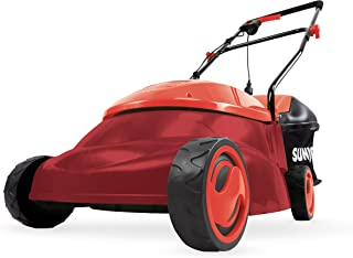Sun Joe MJ401E-PRO-RED 14 inch 13 Amp Electric Lawn Mower w/Side Discharge Chute, Red