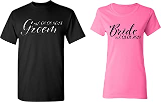 Groom - Bride Personalized Couple Matching Shirts Married Custom Valentines Day