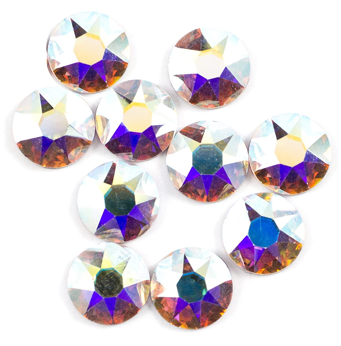 Swarovski - Create Your Style Flatback 6mm Crystal AB 3 packages of 10 Piece (30 Total Crystals)