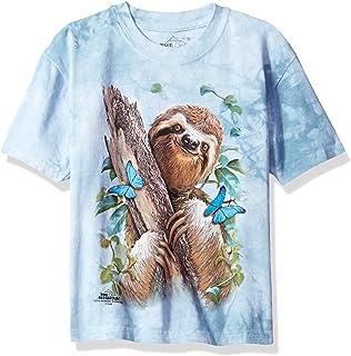 Mountain Sloth Butterflies Child T Shirt