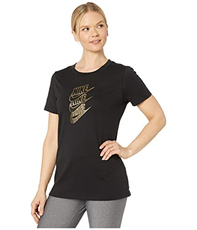 Nike NSW Tee Statement Shine (Black/Metallic Gold) Women