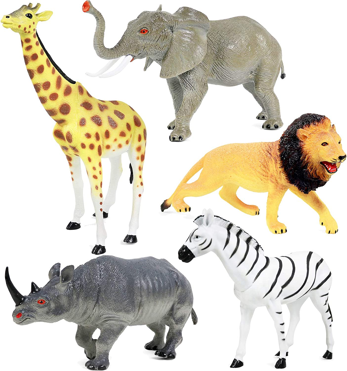 amazoncom animal figure8 inch jumbo jungle animal toy - HD 1411×1500