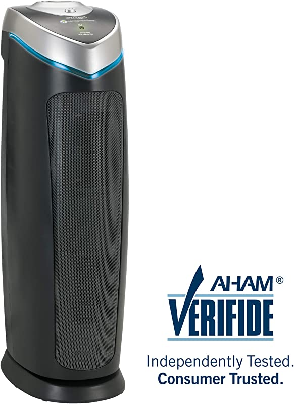 Germ Guardian AC4825 22 3 In 1 True HEPA Filter Air Purifier For Home Full Room UV C Light Kills Germs Filters Allergies Smoke Dust Pet Dander Odors 3 Yr Wty GermGuardian Grey